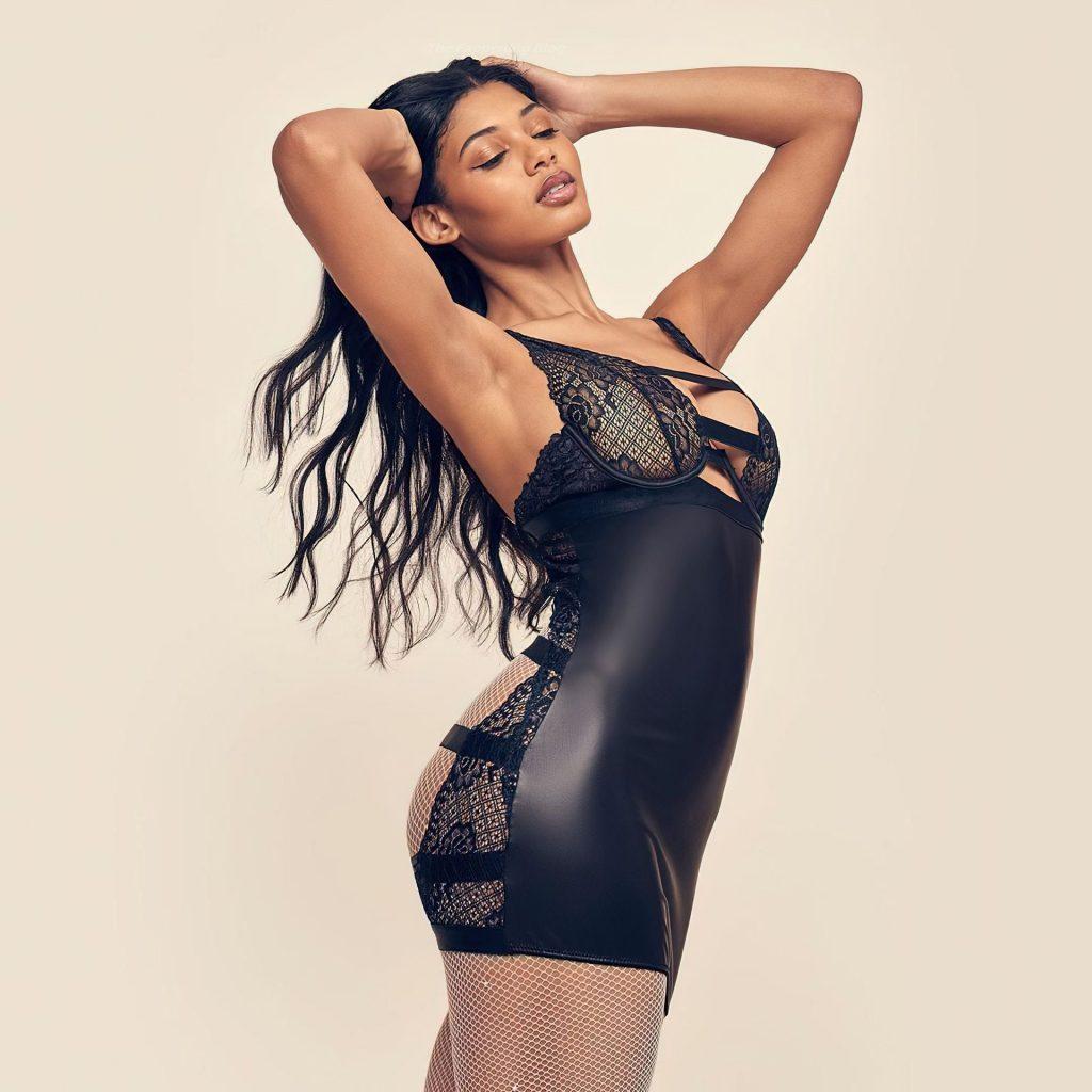 Danielle Herrington See Through & Sexy – Frederick's of Hollywood (12 Photos)