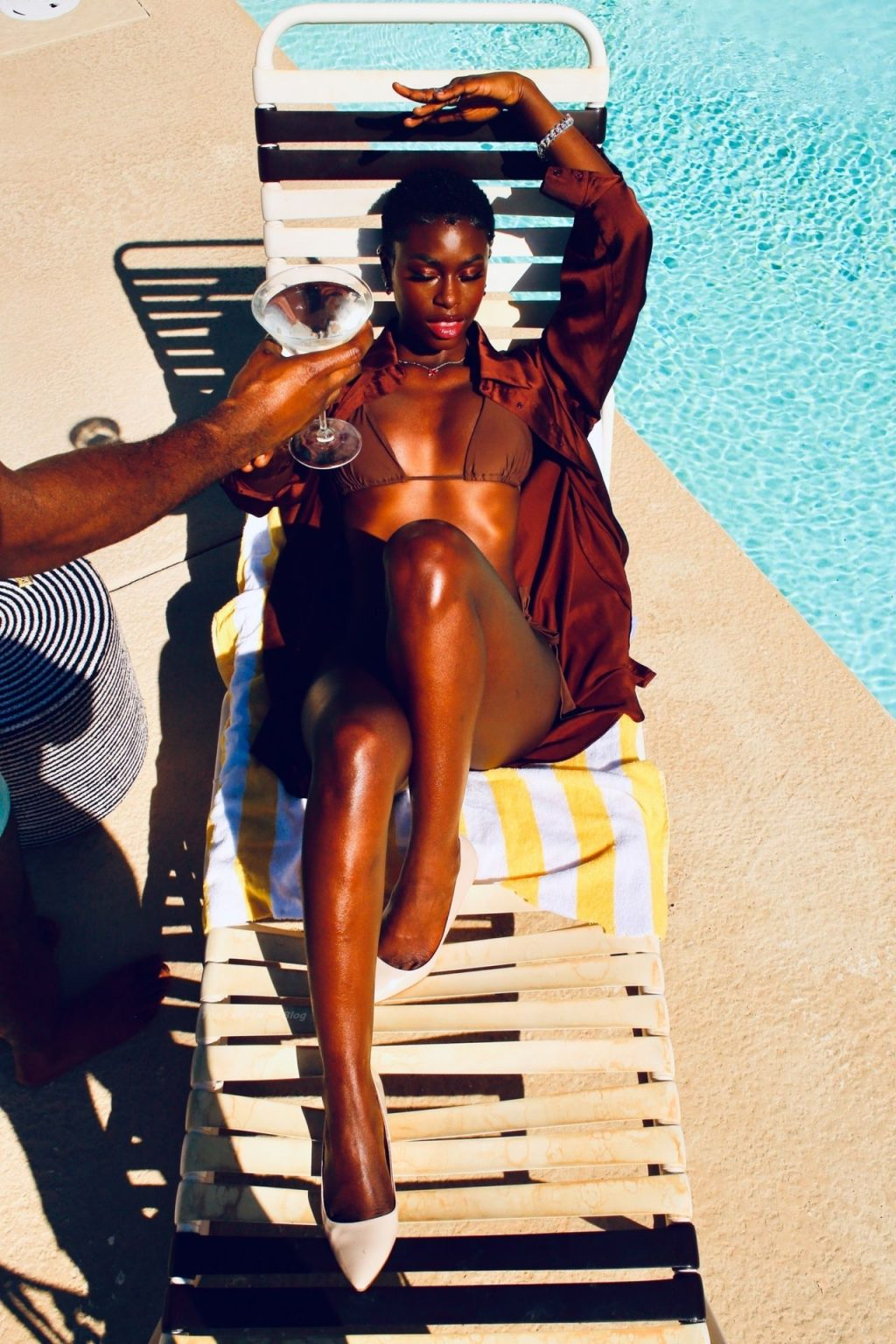 Diarra Sylla Soaks Up the Sun by the Pool in Palm Springs (38 Photos)