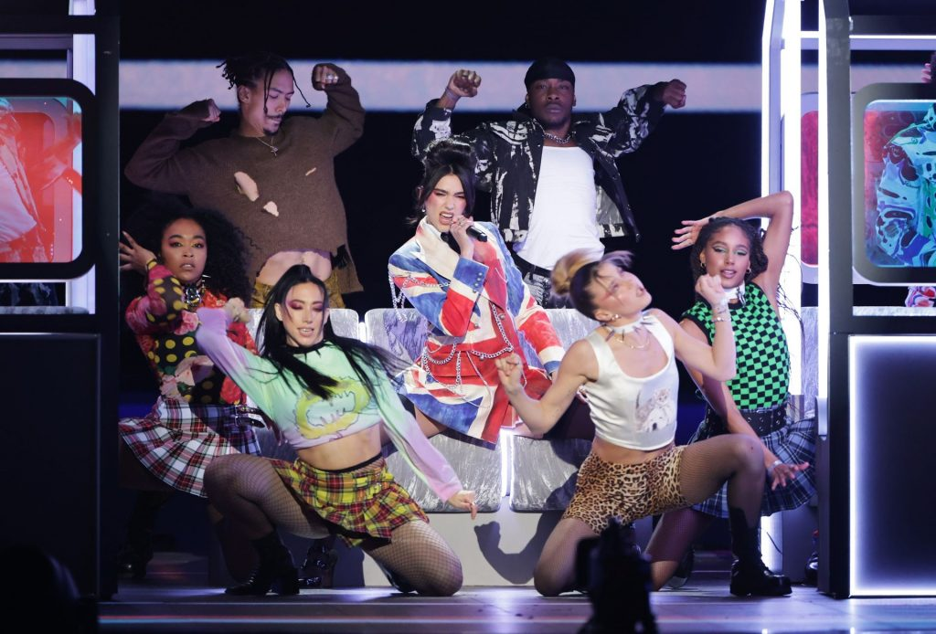 Dua Lipa Performs on Stage at The BRIT Awards in London (96 Photos + Video)