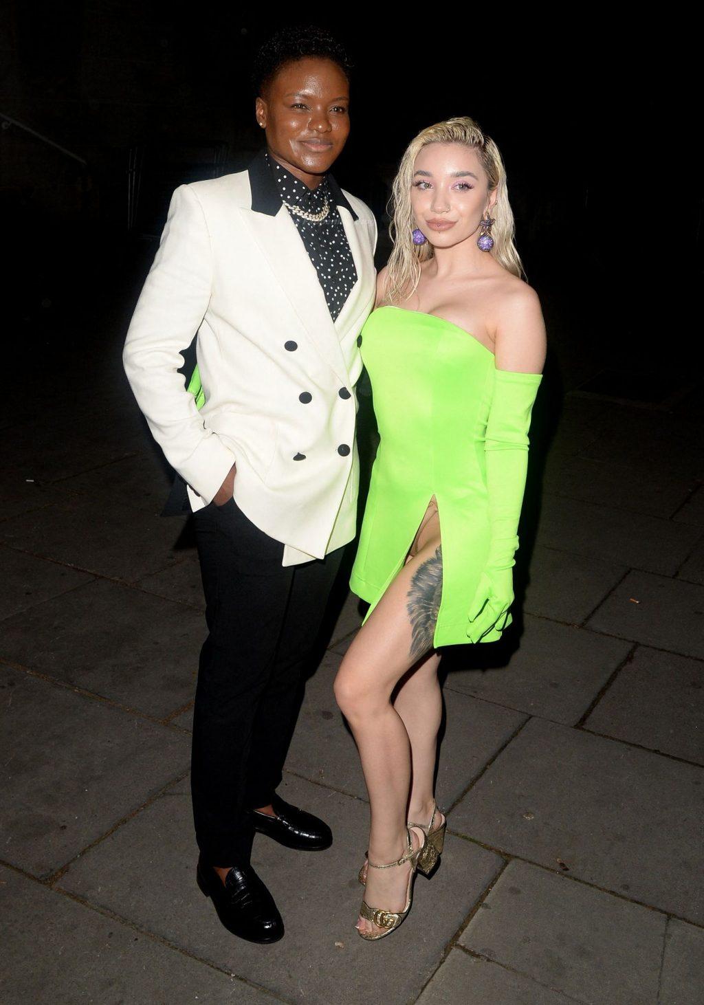 Ella Baig Suffers a Slight Wardrobe Malfunction in London (17 Photos)