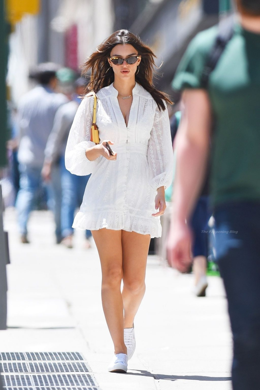 Emily Ratajkowski Looks Sexy in a White Mini Dress as She Heads Out in NYC (11 Photos)