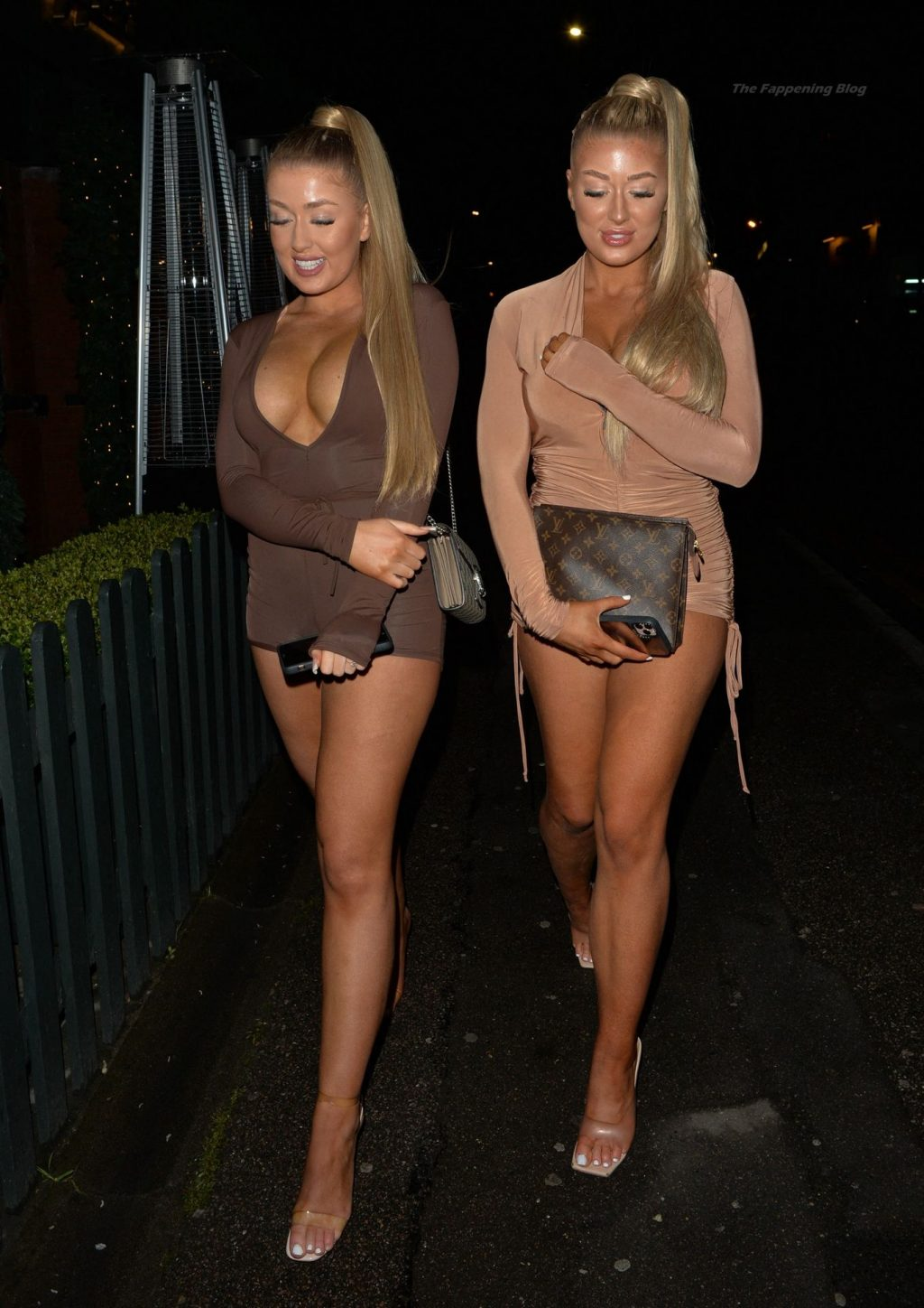 Jess & Eve Gale are Seen Arriving at Hart Lounge in London (19 Photos)