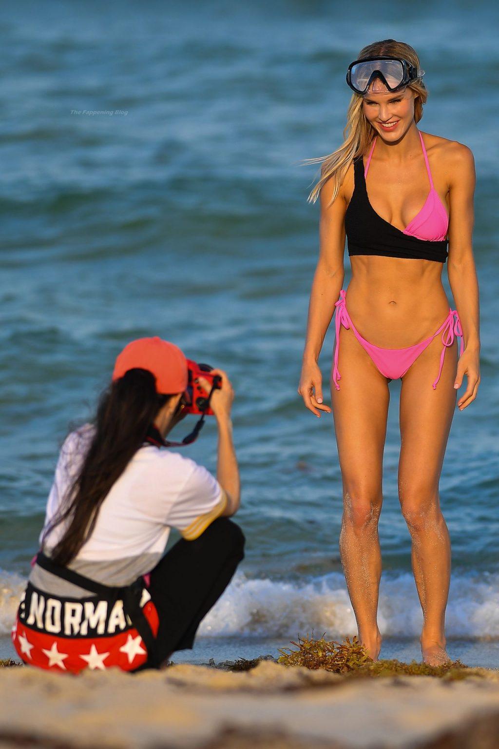 Joy Corrigan Wears a Snorkel Mask During a Shoot in Miami Beach (35 Photos)
