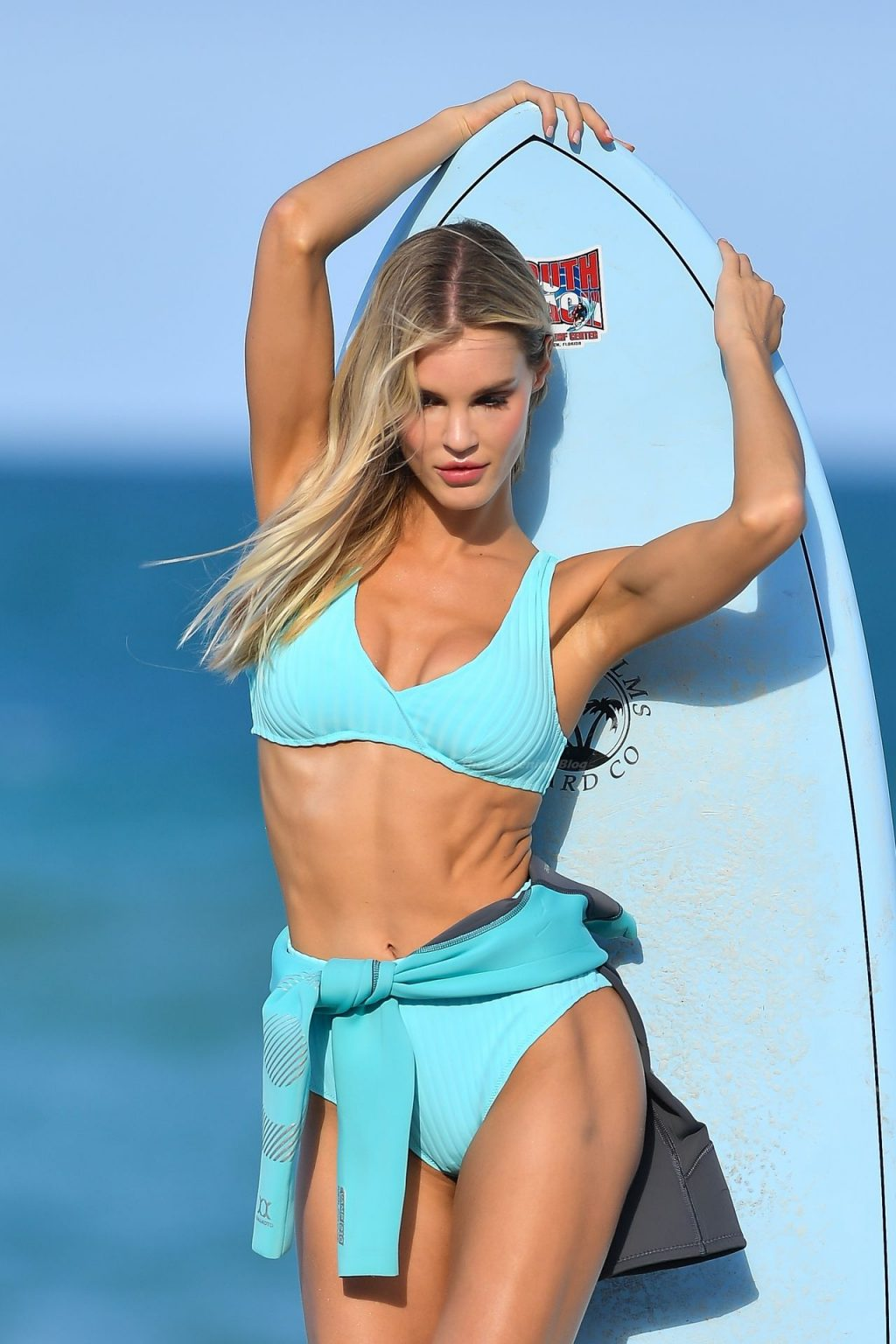 Joy Corrigan Holds a Surfboard Doing a Bikini Shoot (36 Photos)