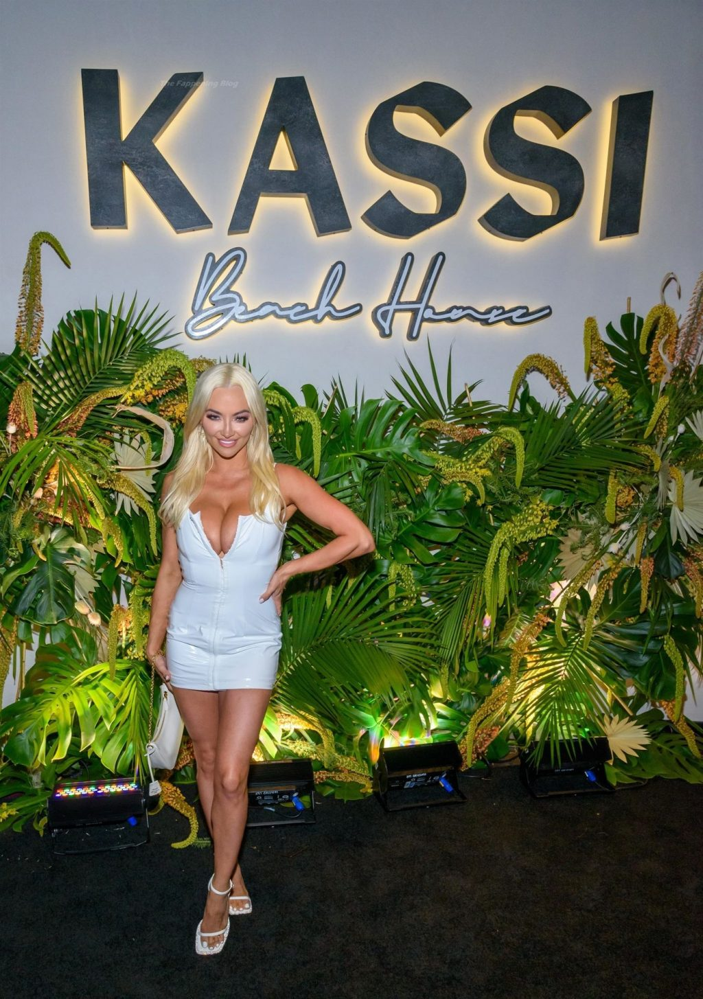 Lindsey Pelas Displays Her Cleavage at Kassi Beach House Grand Opening (12 Photos + Video)