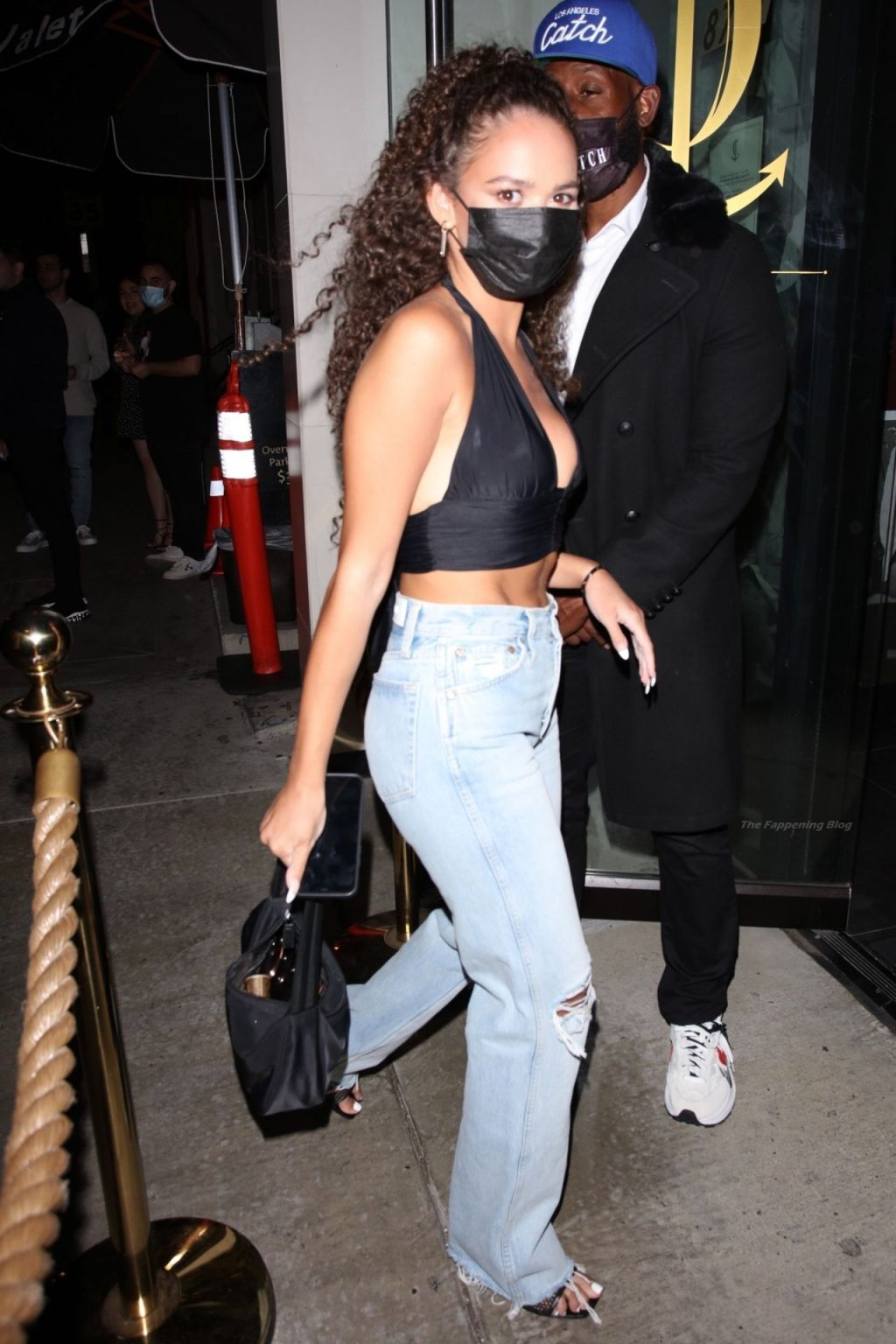 Madison Pettis Shows Off Her Snatched Waist and Nice Cleavage Arriving at Catch LA (18 Photos)