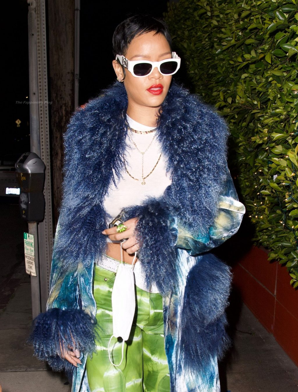 Rihanna Shows Off Her Slightly Nude Tits and New Short Hairstyle (108 Photos)
