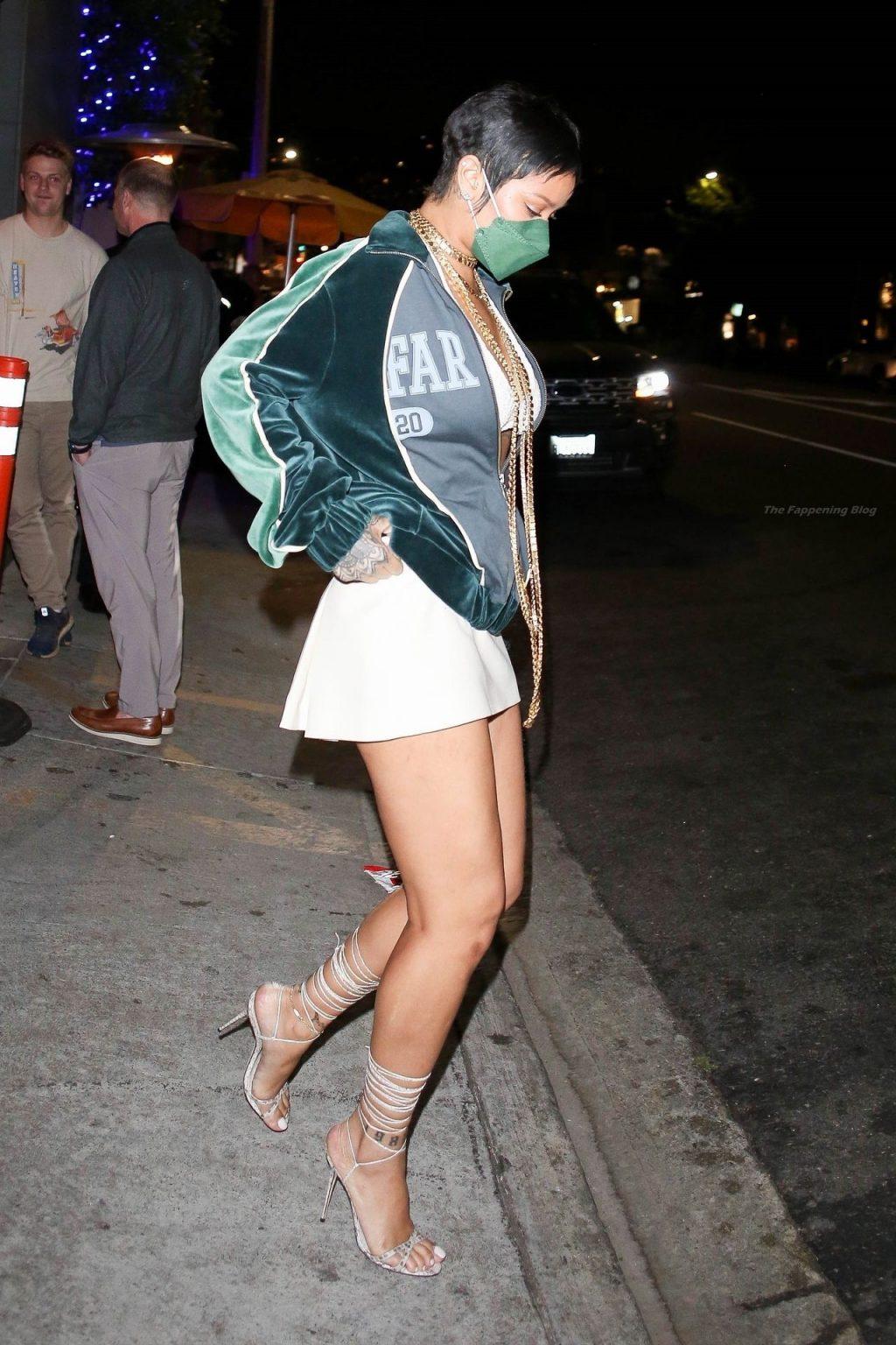 Leggy Rihanna Brings Her Nostalgic Style to Dinner as She Rocks a Bold Pixie Cut (30 Photos)