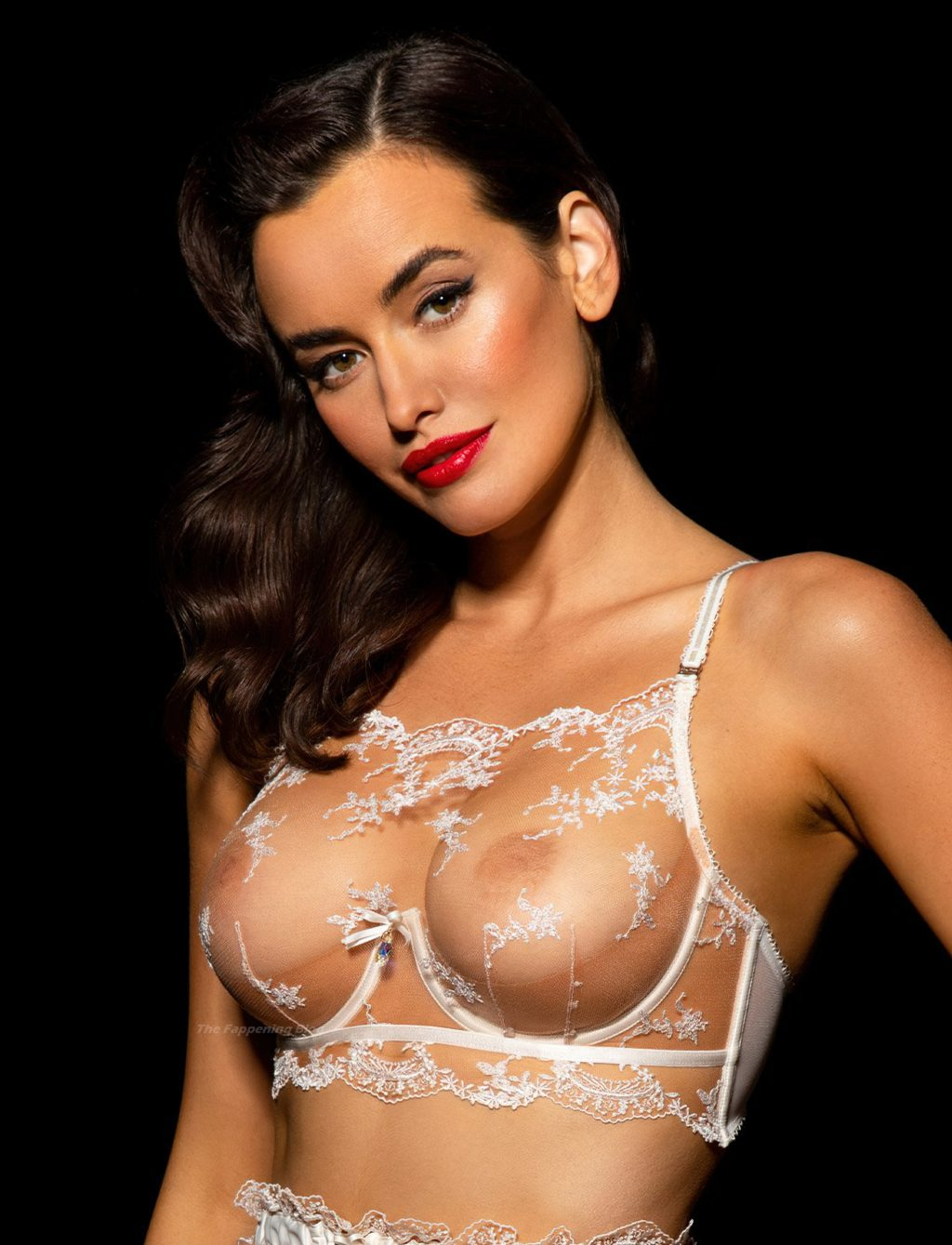 Sarah Stephens Shows Her Nude Tits As She Poses in Lace Lingerie (29 Photos)