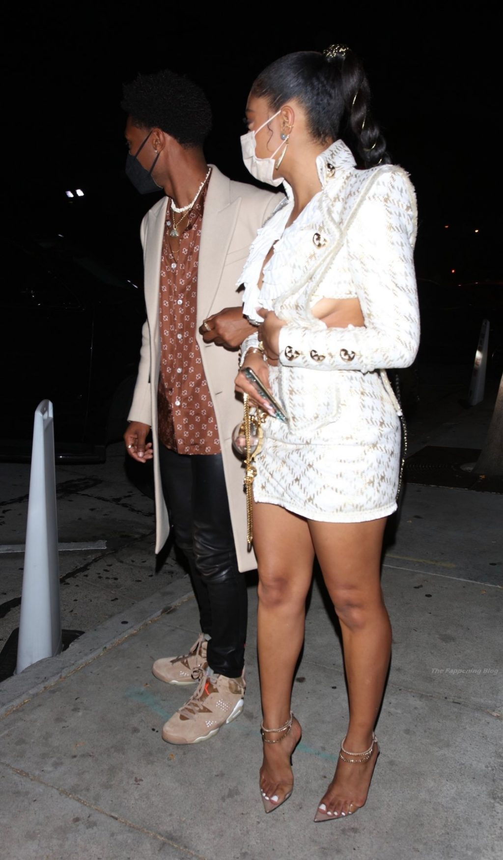 Sierra Capri & Jonathan Daviss Are Seen Leaving Craig's After a Night of Celebrating (15 Photos)