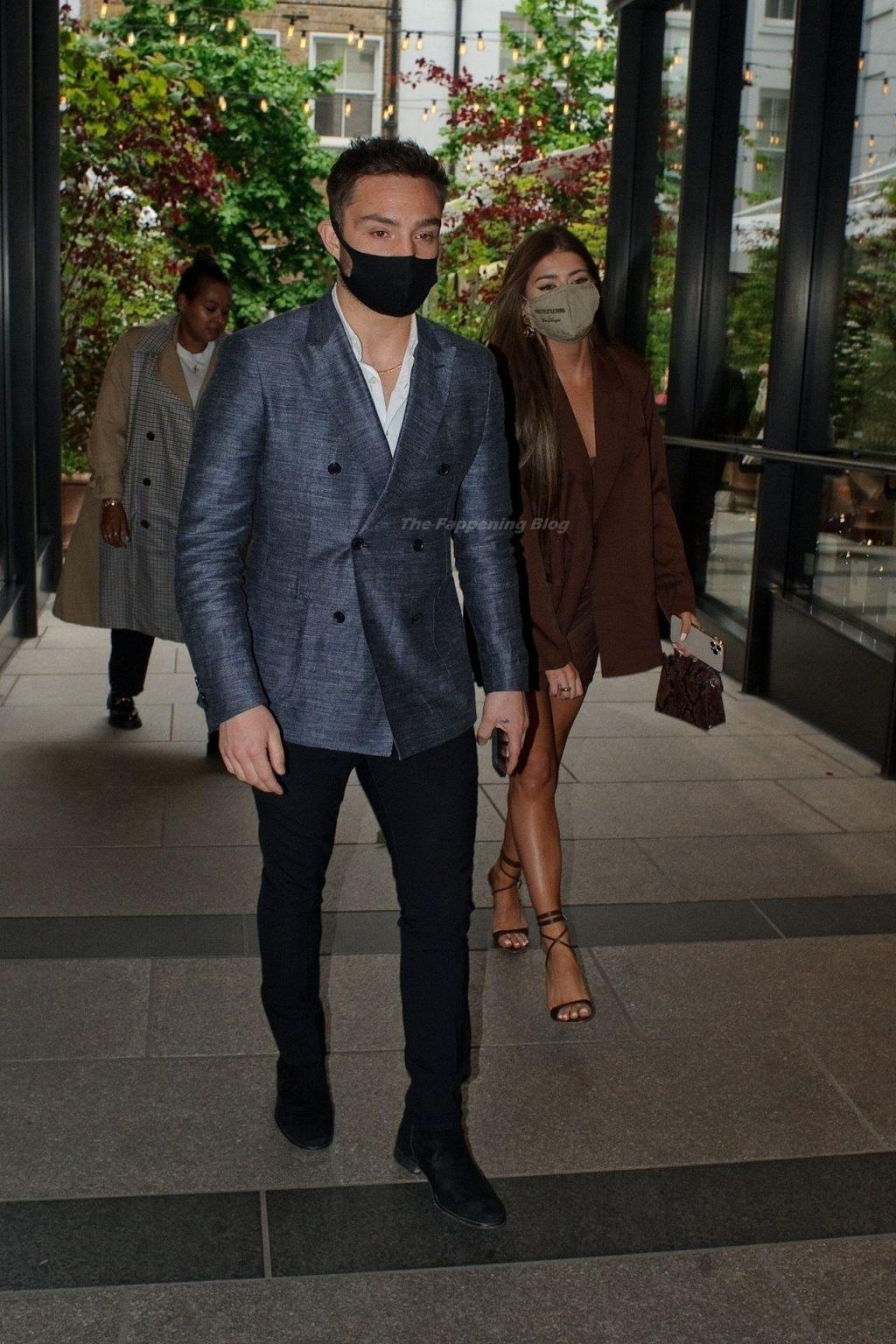 Tamara Francesconi & Ed Westwick are Looking Sharp in London (10 Photos)