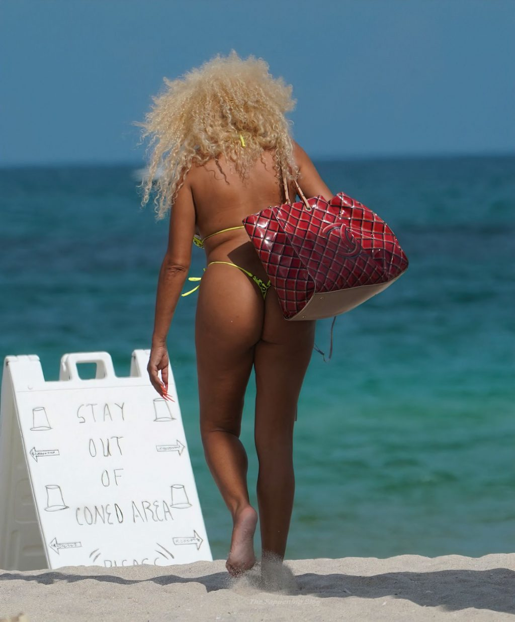 Afida Turner Has a Wardrobe Malfunction in a Bikini in Miami Beach (16 Photos)