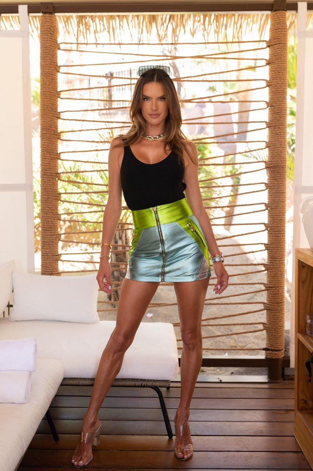 Alessandra Ambrosio Flaunts Her Sexy Legs at The Élia Beach Club Grand Opening (22 Photos)