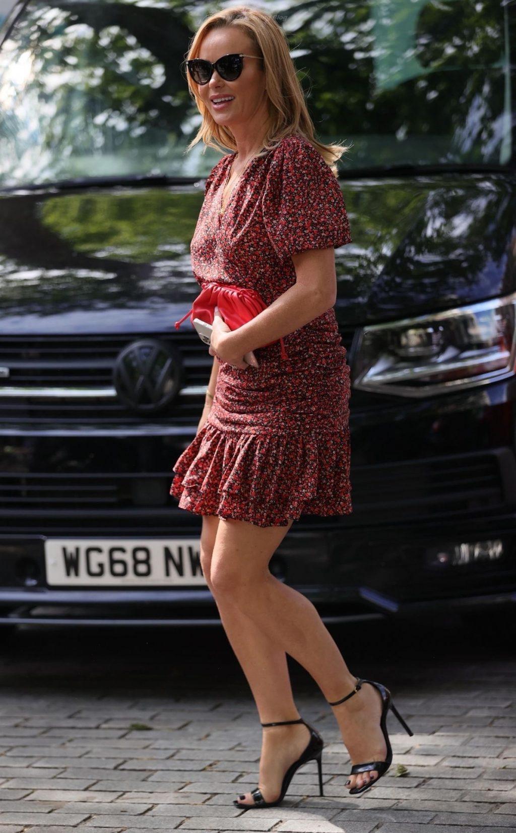 Leggy Amanda Holden is Pictured Outside the Global Radio Studios (39 Photos)