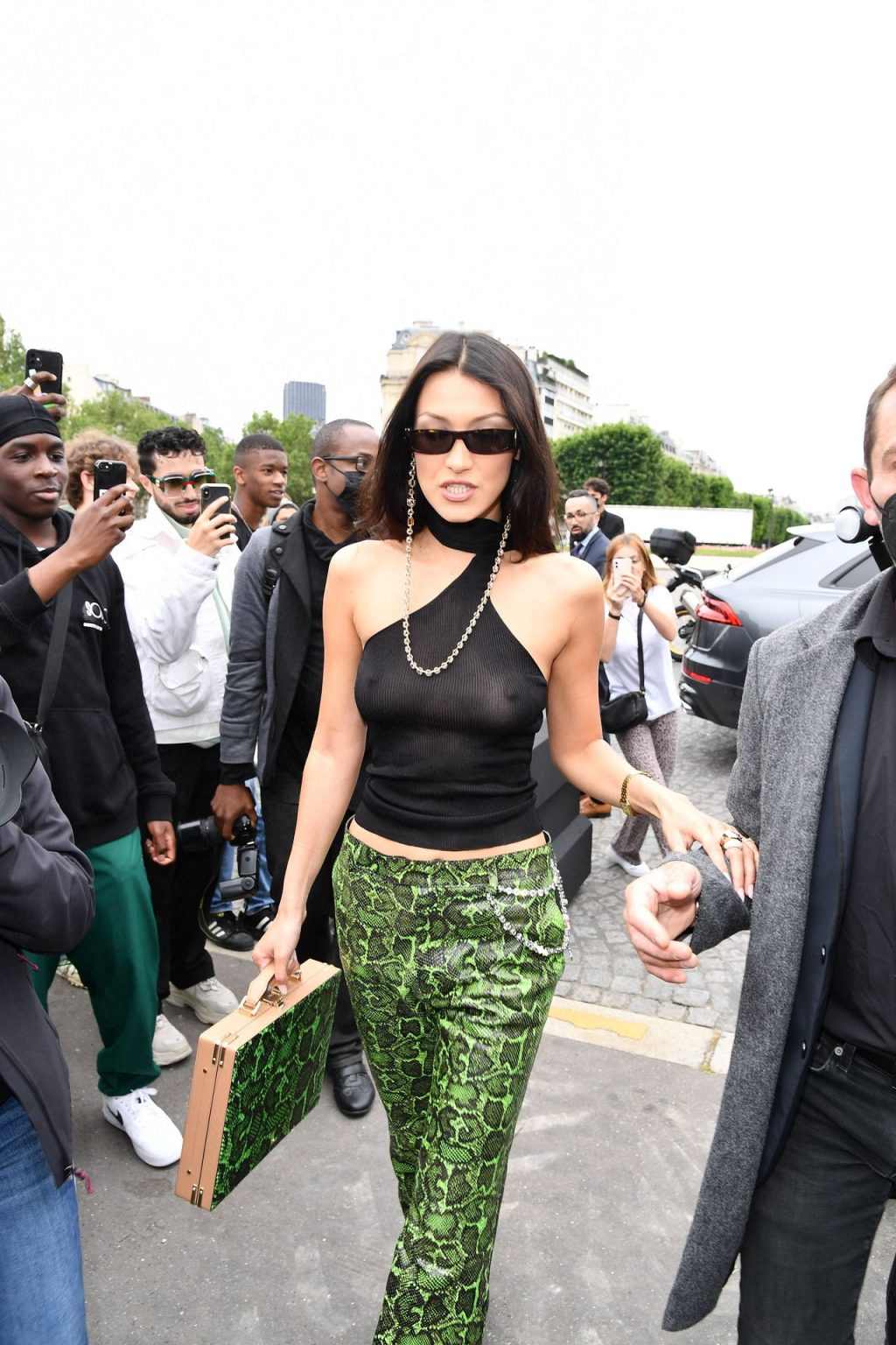 Braless Bella Hadid Arrives at the Men's Fashion Shows in Paris (82 New Photos)