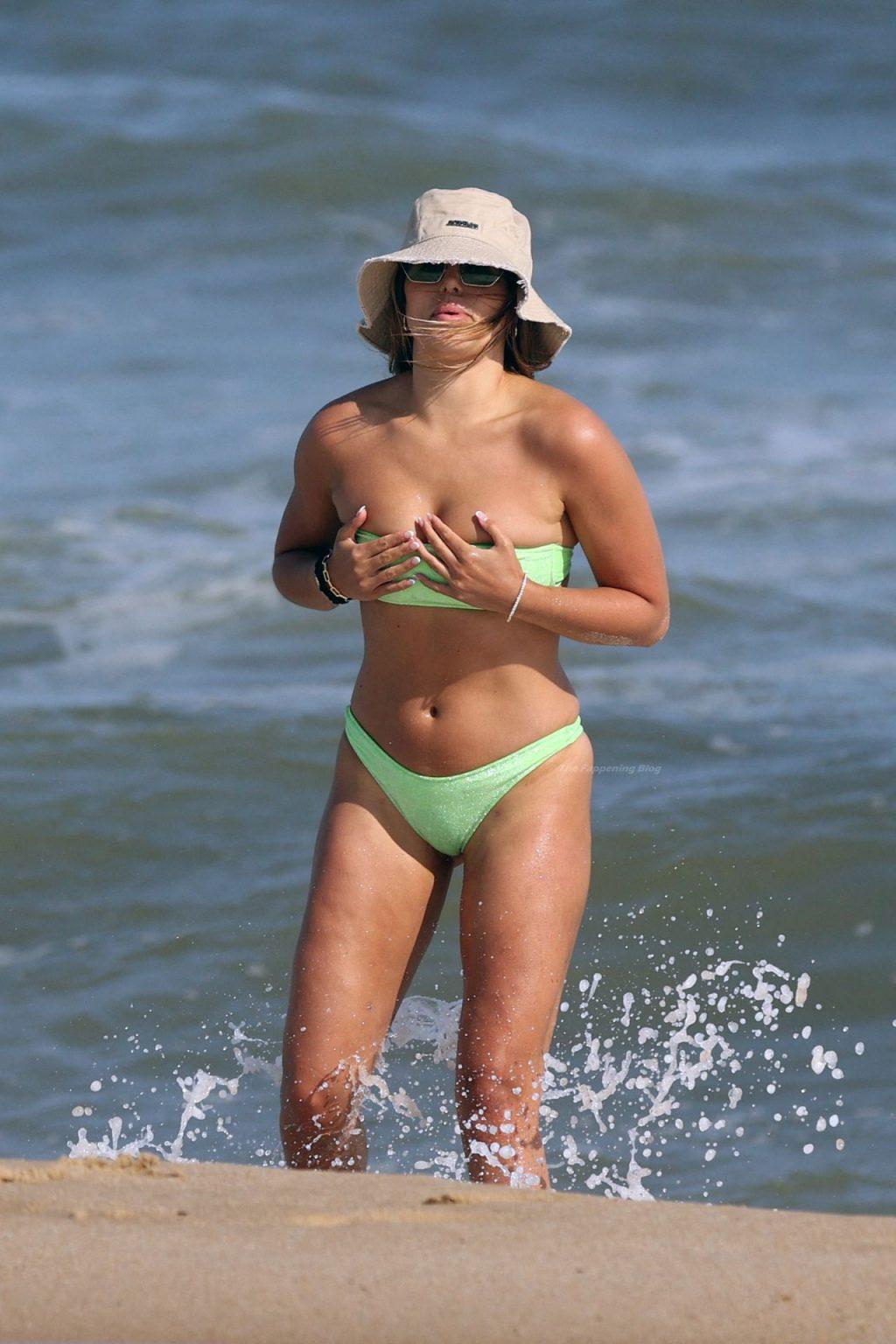 Brooks Nader Takes a Swim in Montauk Beach (61 Photos)