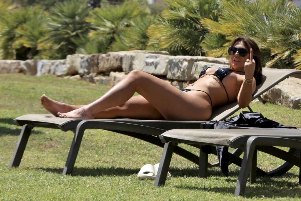 Chloe Ferry Gets the Temperatures Racing in a Skimpy Black Bikini Set Out on Holiday in Portugal (38 Photos)