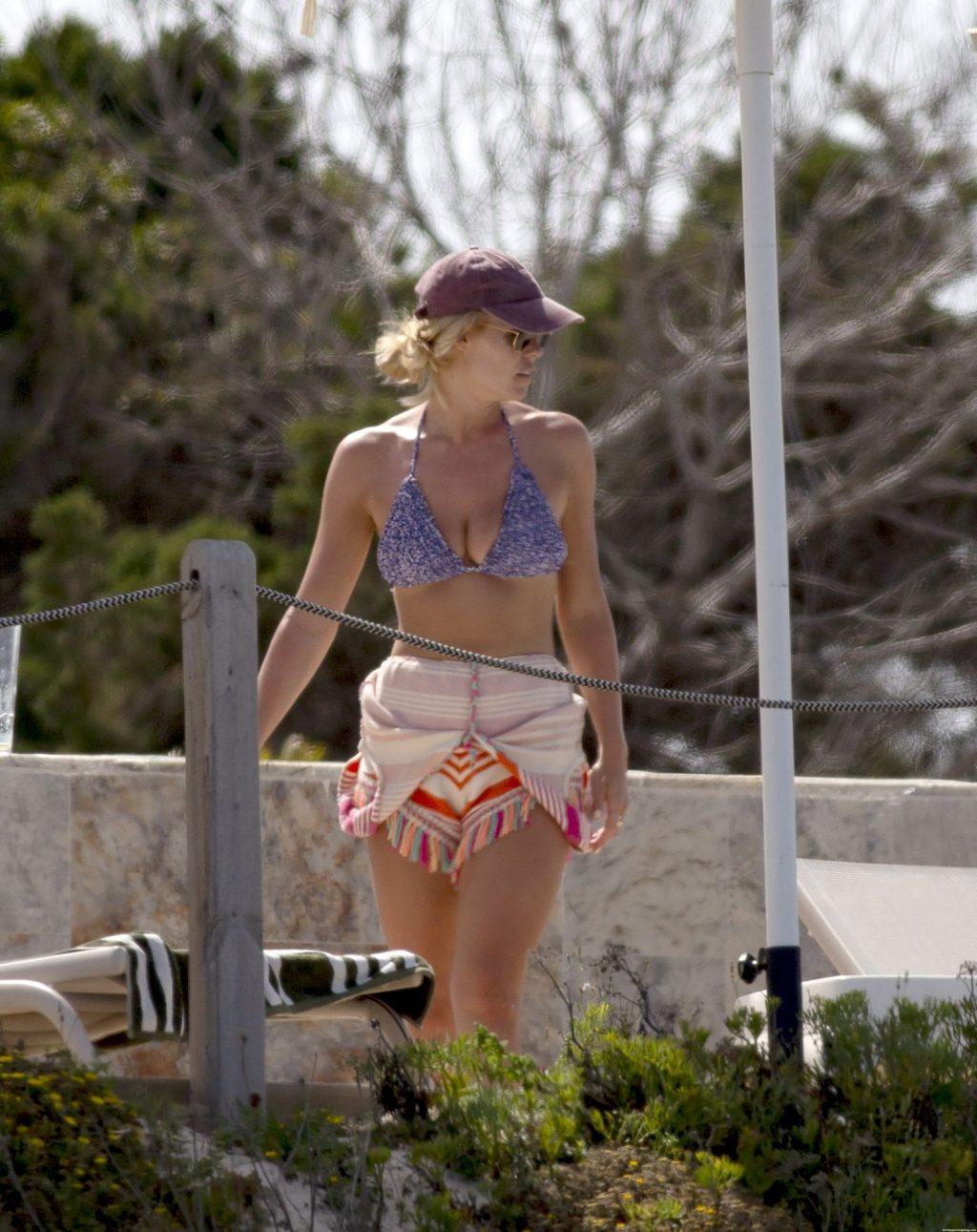 Chloe Meadows Looks Spectacular in a Blue Bikini in Ibiza (14 Photos)