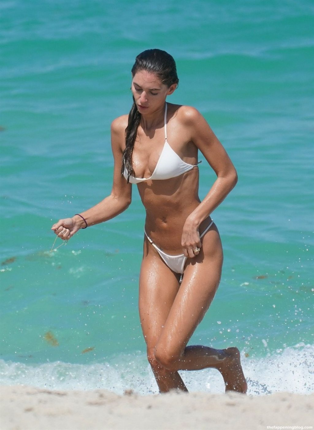 Debbie St. Pierre Stuns in a White Bikini at the Beach in Miami (29 Photos)