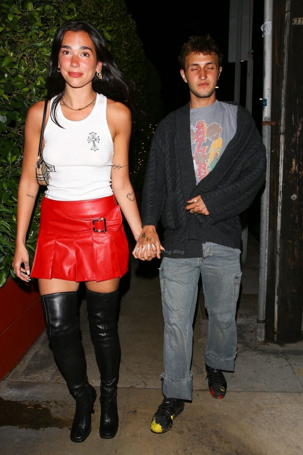 Dua Lipa and Anwar Hadid are Spotted Leaving a Dinner Date in Santa Monica (41 Photos)
