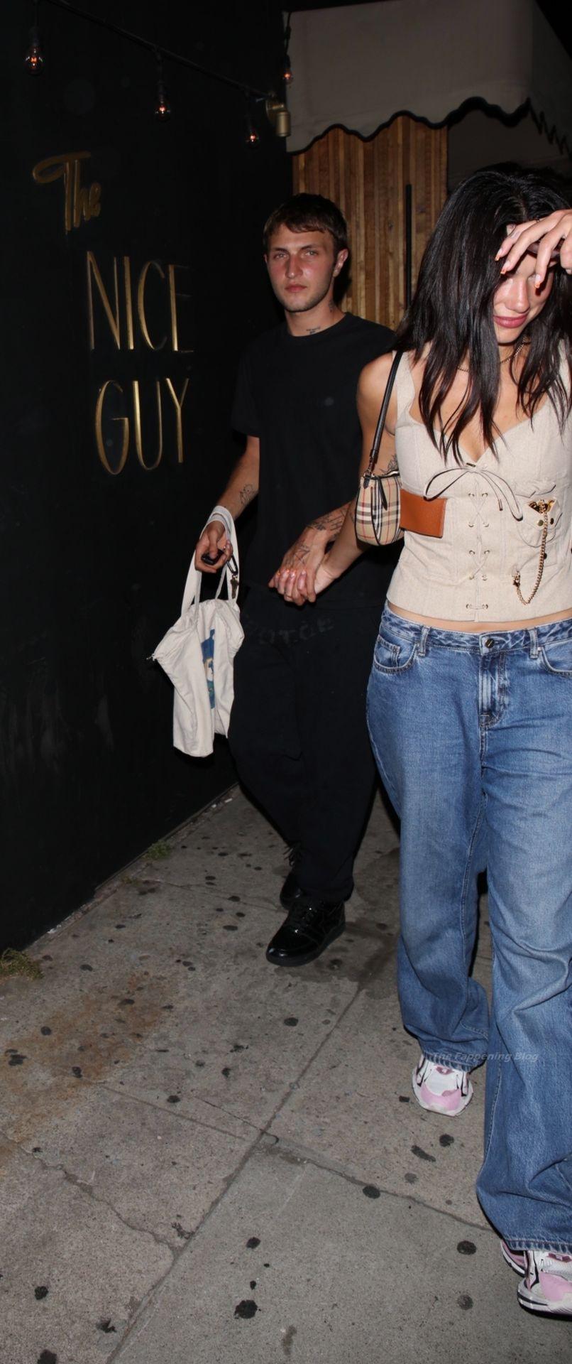 Dua Lipa & Anwar Hadid Exit The Nice Guy (83 Photos)