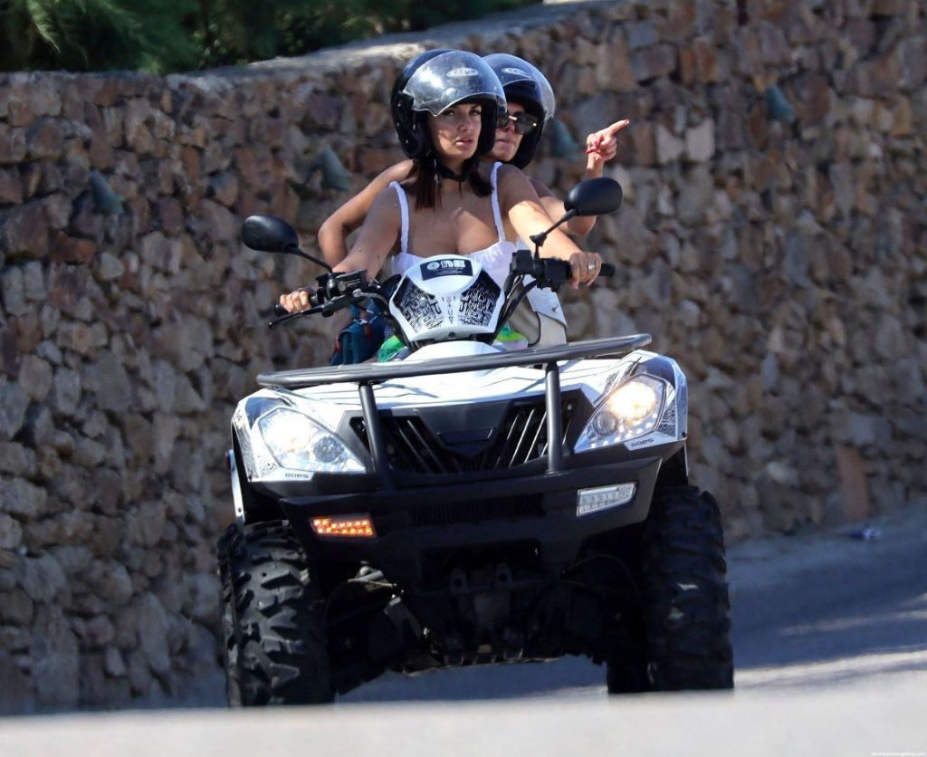Elettra Lamborghini Exposes Her Underboob While Driving an ATV With Her Friend (48 Photos)