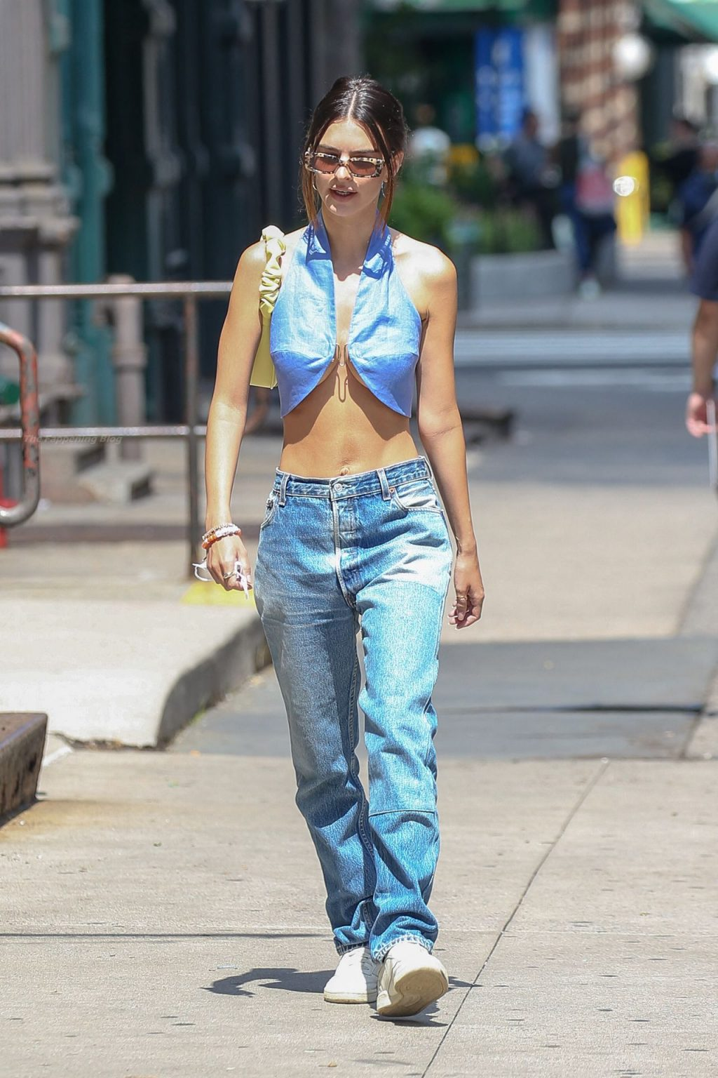 Braless Emily Ratajkowski is Spotted Waling Around in NYC (33 Photos)