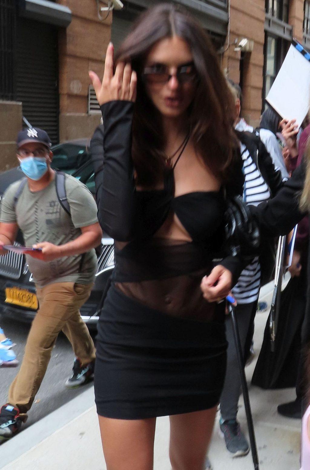 Leggy Emily Ratajkowski Arrives at the Spring Studios for Tribeca Festival (89 Photos)