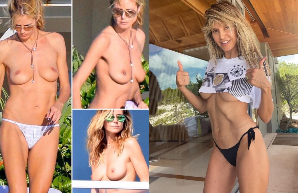 Heidi Klum Nude (1 Collage Photo)