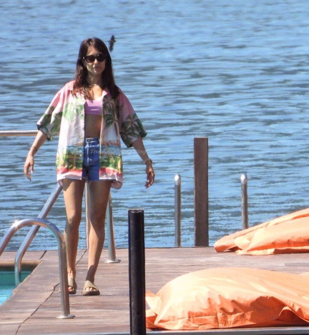 Achraf Hakimi & Hiba Abouk Enjoy a Lovely Family Holiday in Italy (15 Photos)