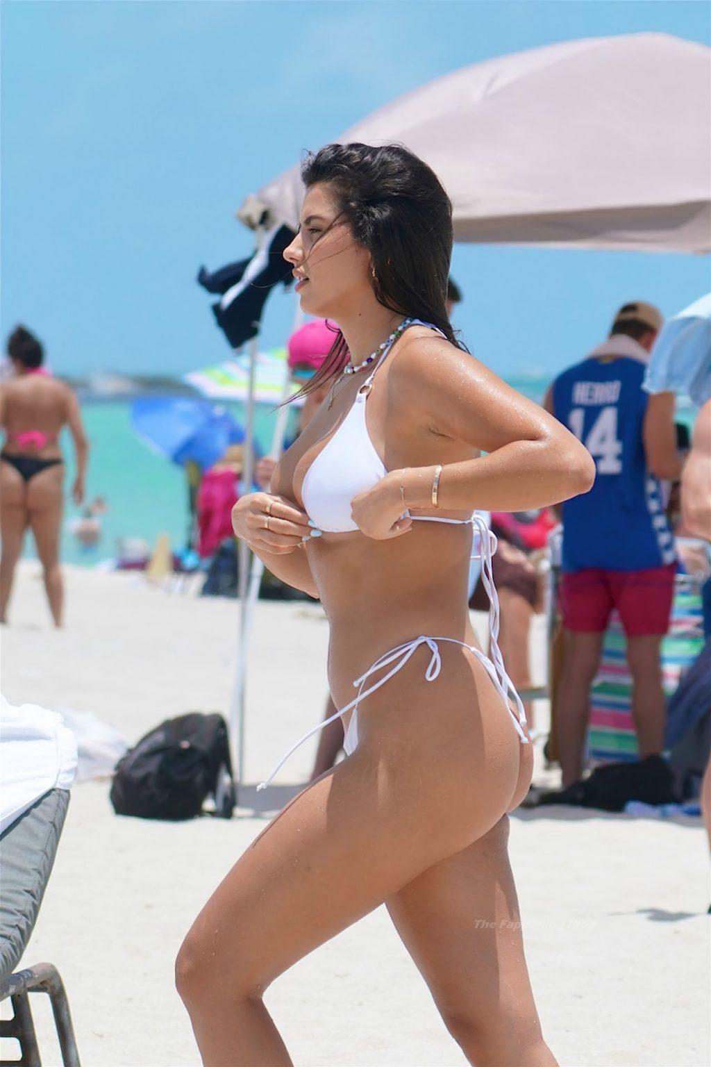 Jehona Dreshaj Stuns in a White Thong Bikini in Miami (19 Photos)