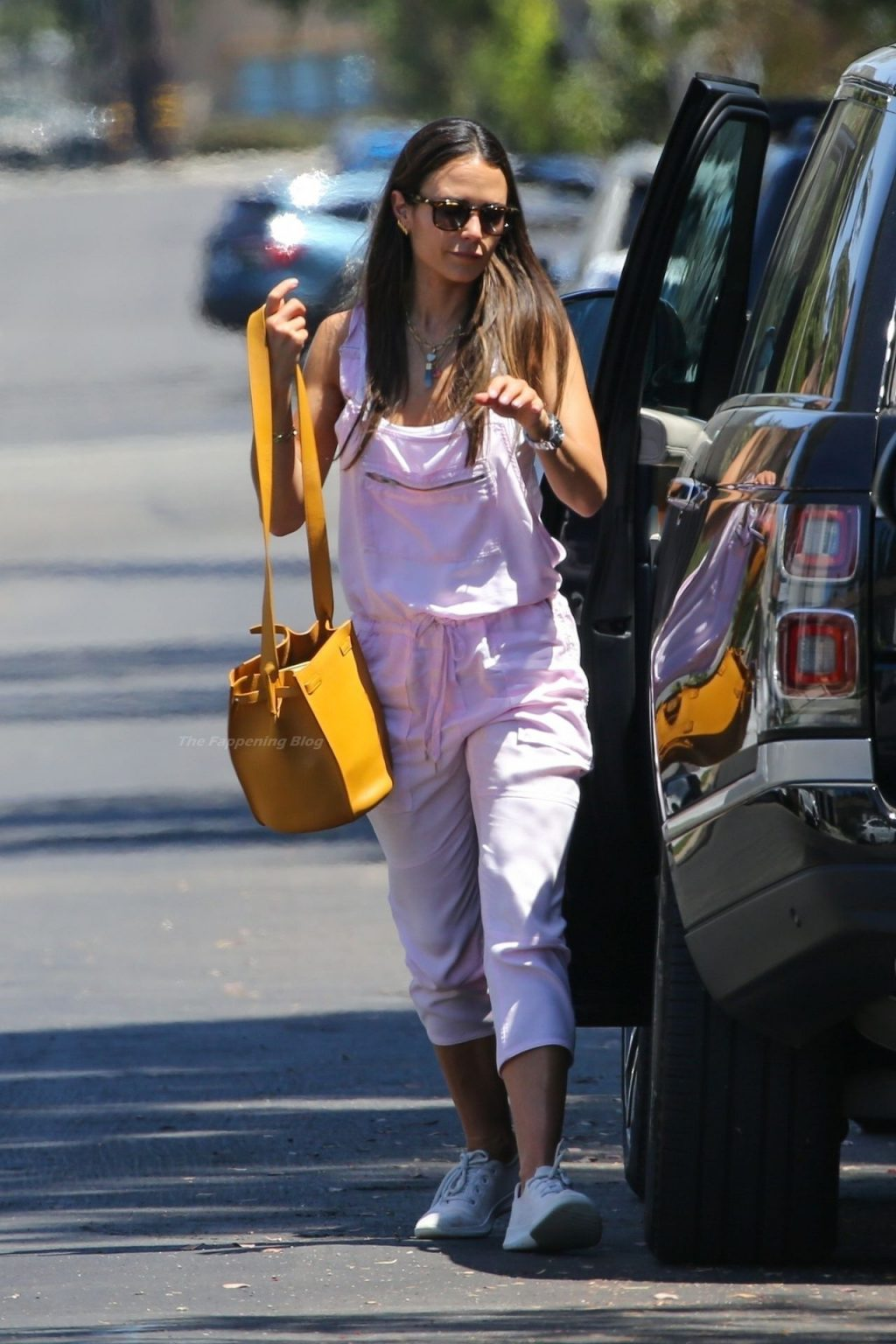 Jordana Brewster Sports a Pink Jumpsuit in Brentwood (23 Photos)