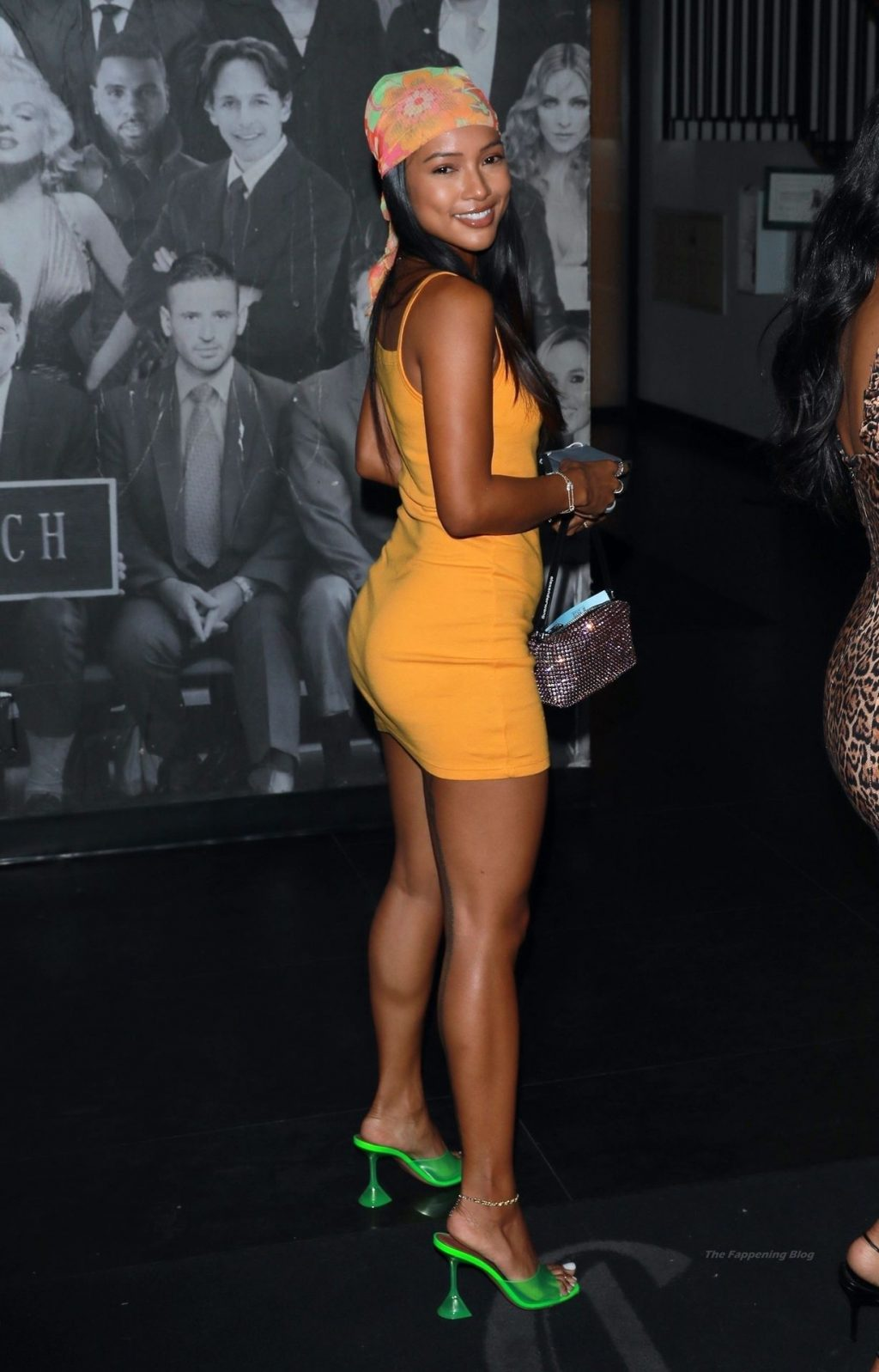 Karrueche Tran Stuns in An Orange Sherbet Dress While Out in Hollywood (41 Photos)
