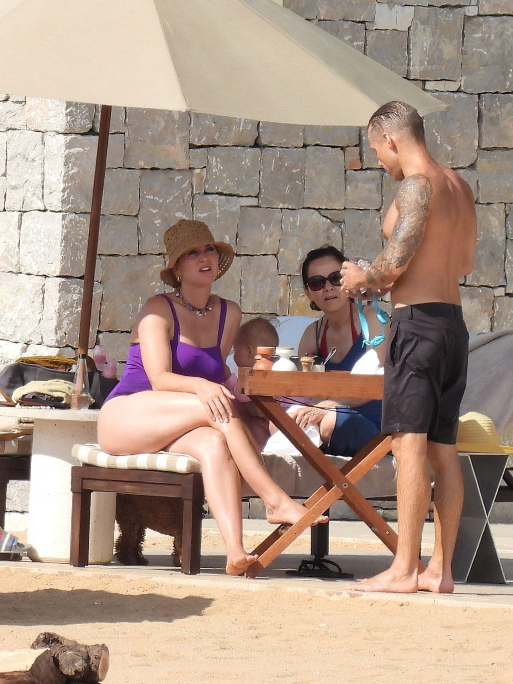 Katy Perry Wows in a Purple Swimsuit As She Enjoys Greek Vacation With Orlando Bloom (66 Photos)
