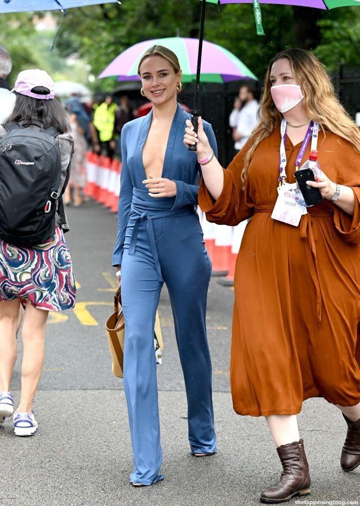 Kimberley Garner Goes Braless During Wimbledon 2021 in London (50 Photos)