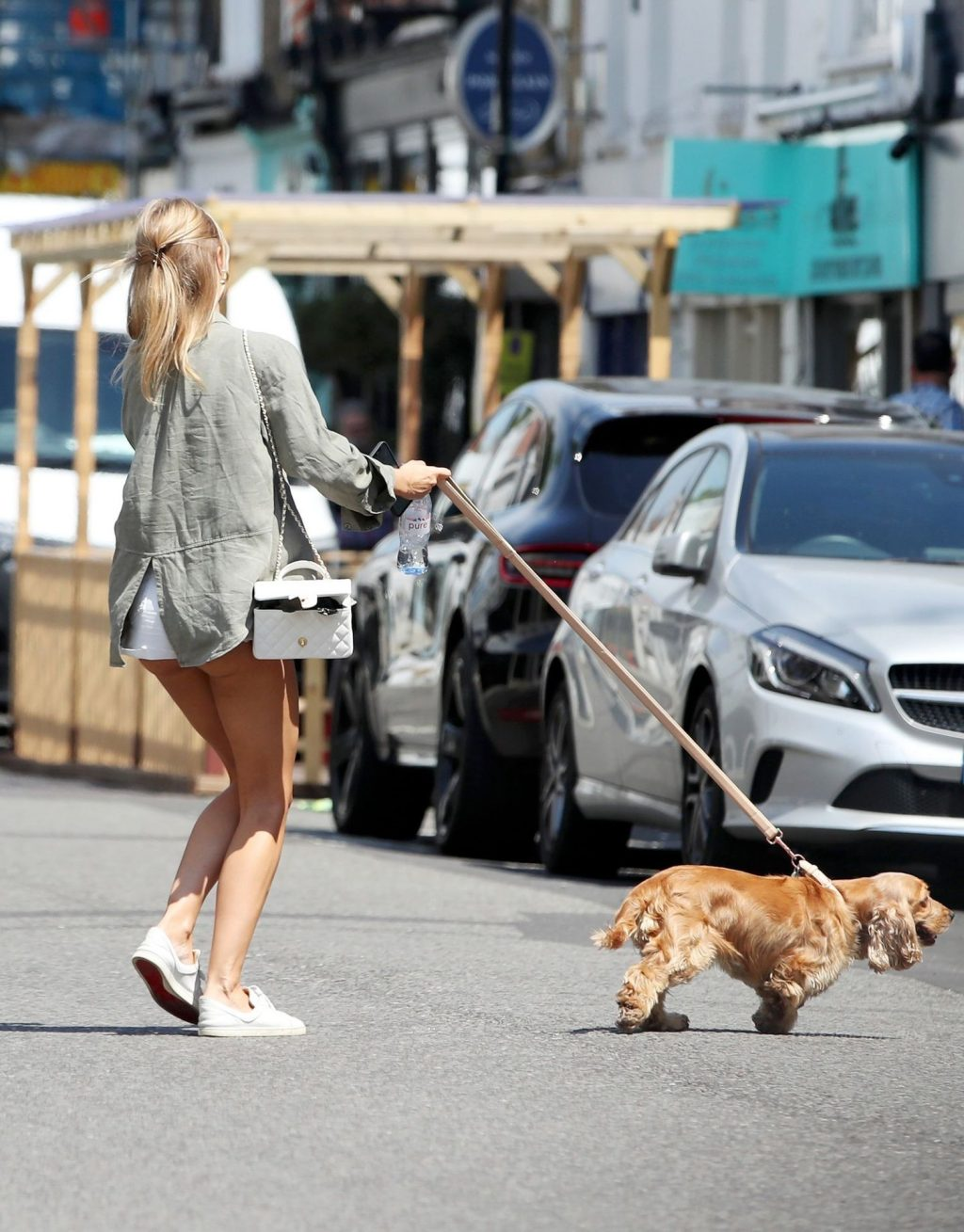 Kimberley Garner Puts on a Very Leggy Display in Tiny Shorts in London (24 Photos)