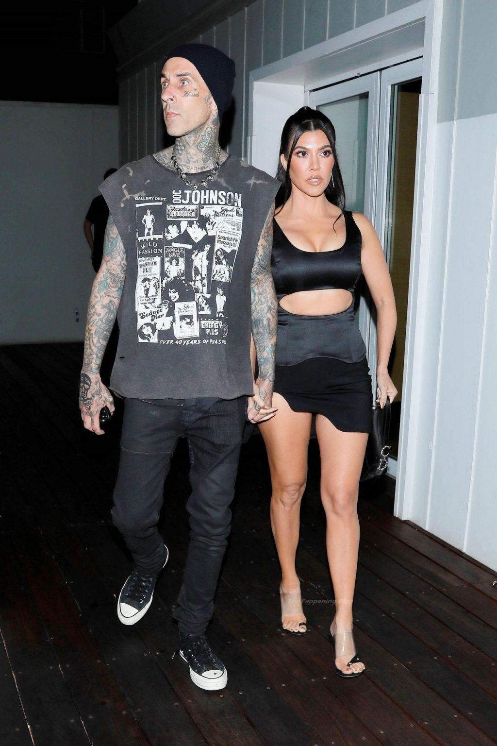 Kourtney Kardashian & Travis Barker Attend the Galore x PrettyLittleThing Party in WeHo (32 Photos)
