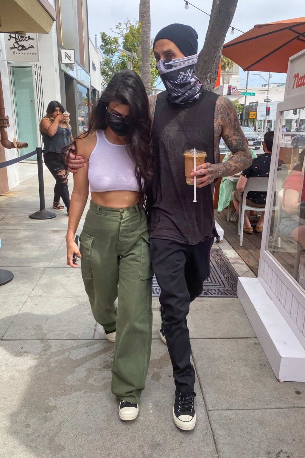 Kourtney Kardashian & Travis Barker Celebrate the Reopening of L.A County in Beverly Hills (19 Photos)
