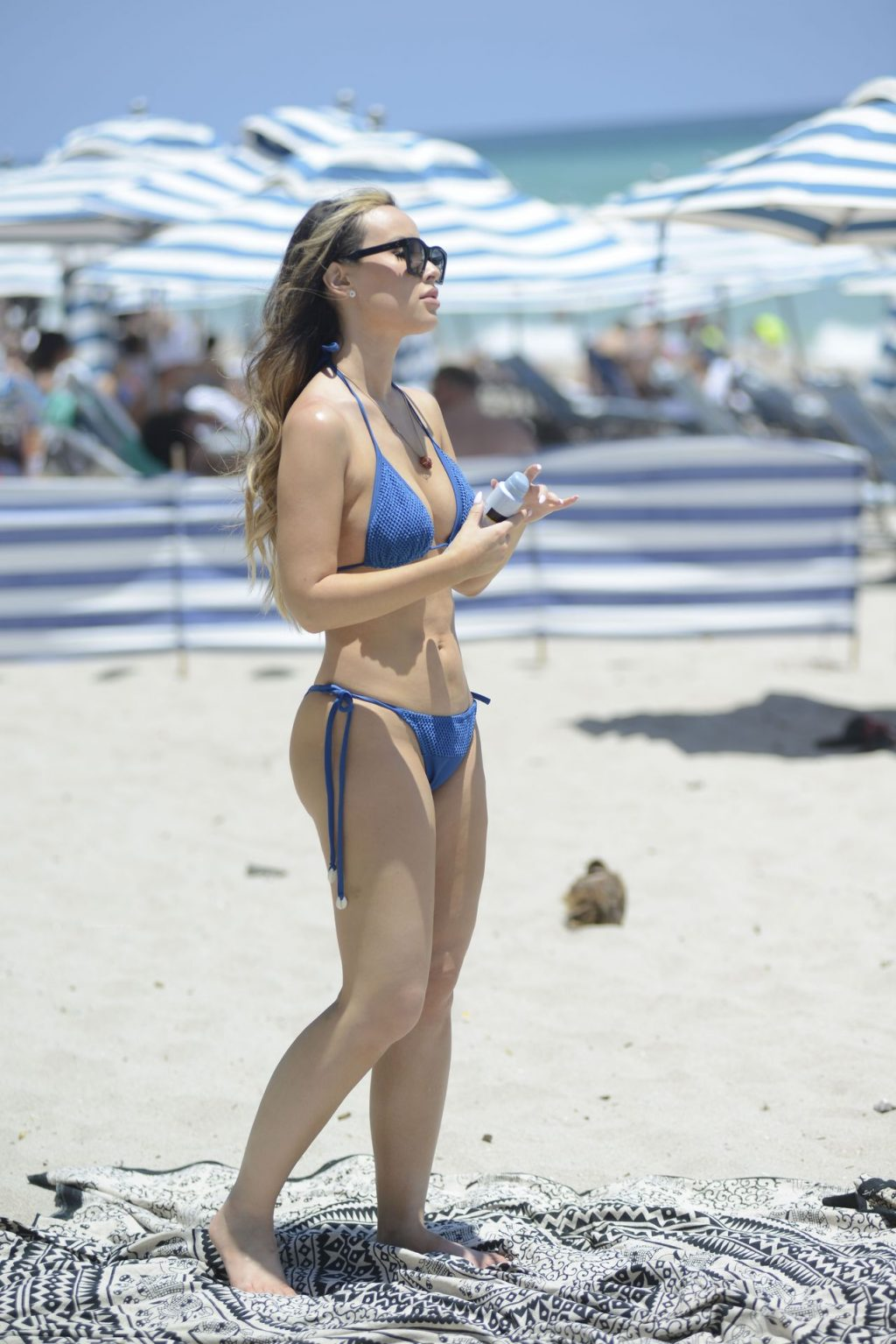 Lisa Opie Shows Off Her Fit Body on the Beach in Miami (24 Photos)