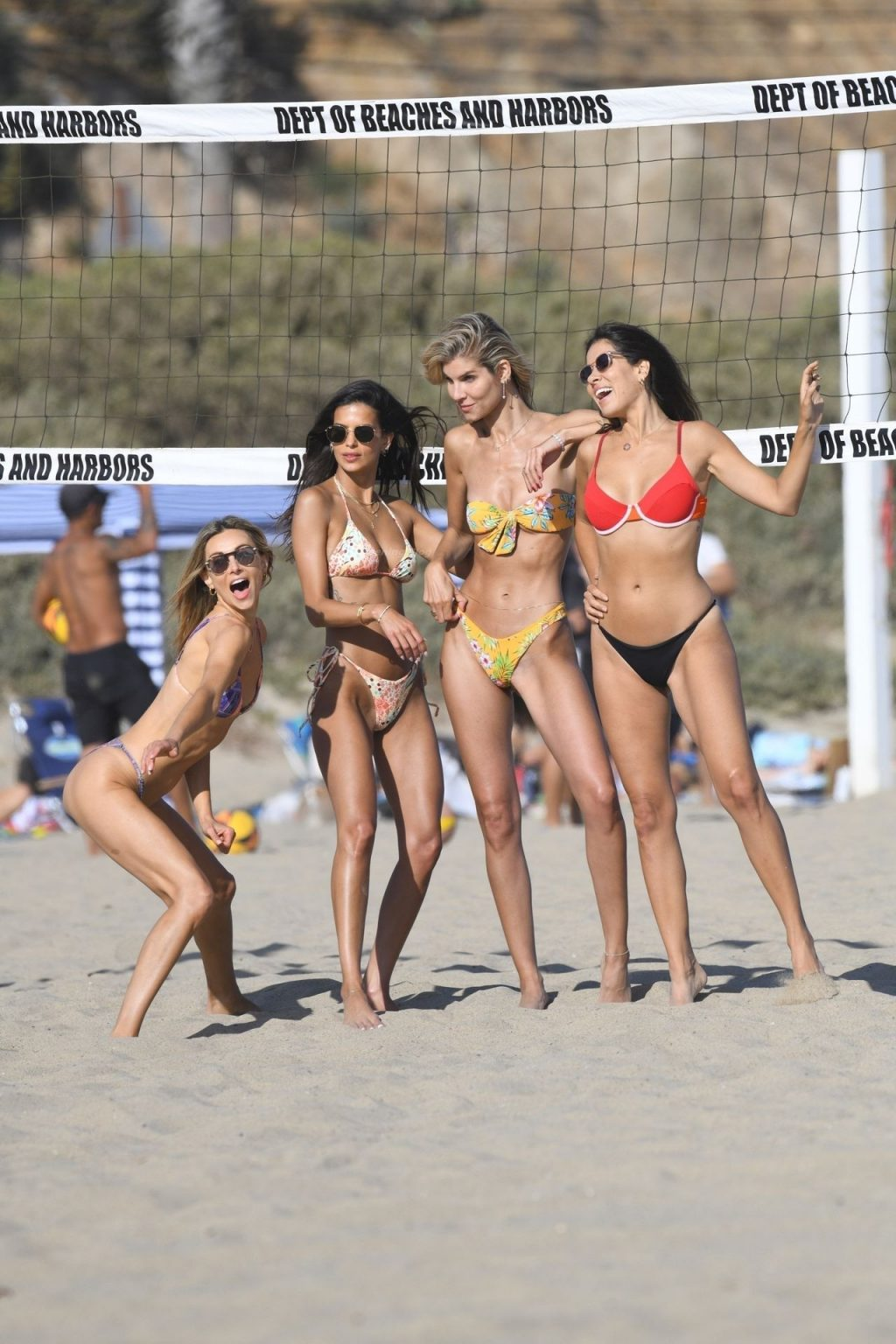 Ludi Delfino and Friends Interrupt a Game of Volleyball to Strike a Pose (46 Photos)