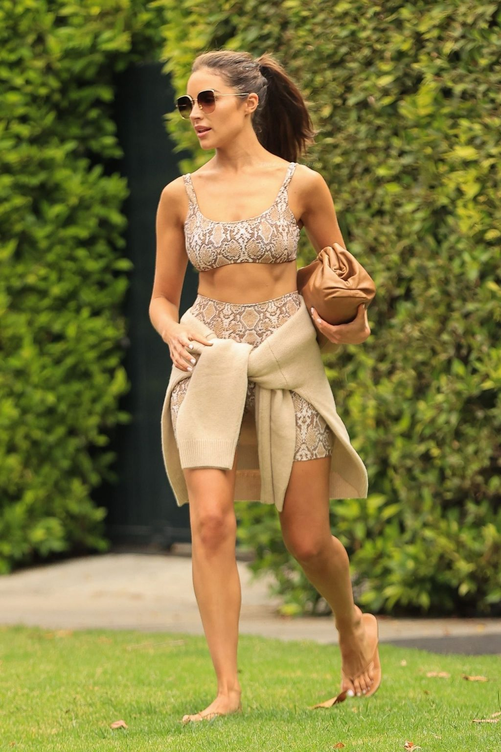 Olivia Culpo Brings Out Her Wild Side in Snake Print Workout Gear (11 Photos)