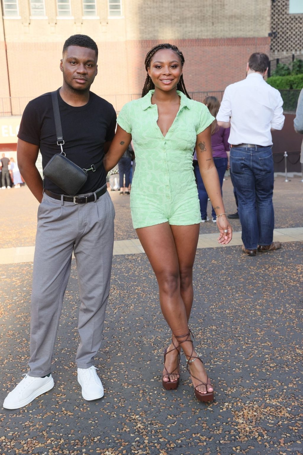 Samira Mighty Looks Hot in a Green Playsuit in London (22 Photos)