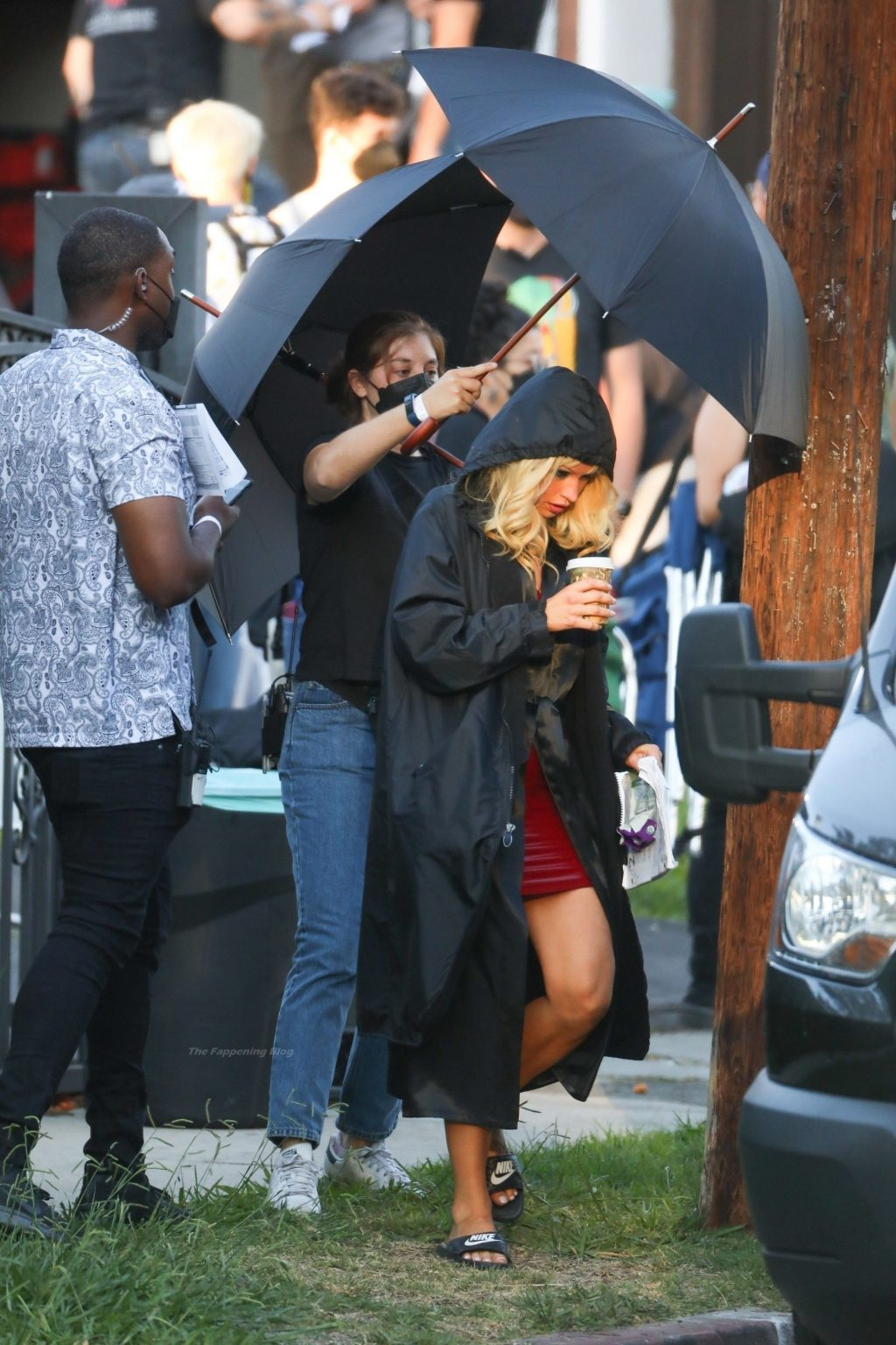 Sebastian Stan & Lily James Film Their Wedding Scene For 'Pam and Tommy' in Los Angeles (69 Photos)