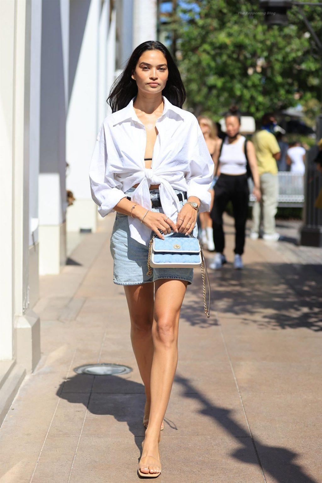 Shanina Shaik Flaunts Her Slender Legs in WeHo (32 Photos)