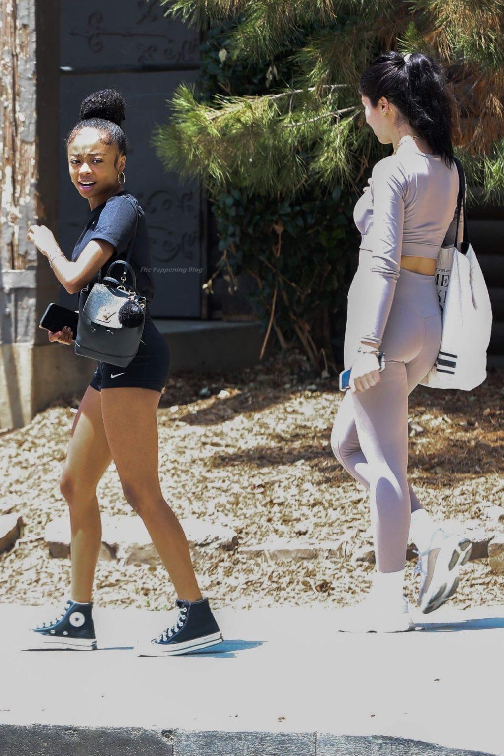 Skai Jackson Wraps Up a Workout Session (10 Photos)