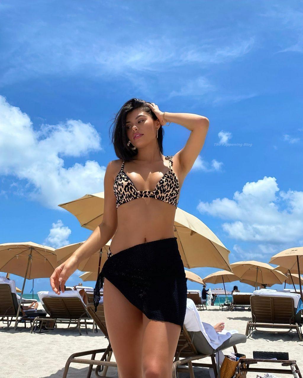 Sophia Gasca Looks Hot in an Animal Print Bikini at the Beach in Miami (24 Photos)