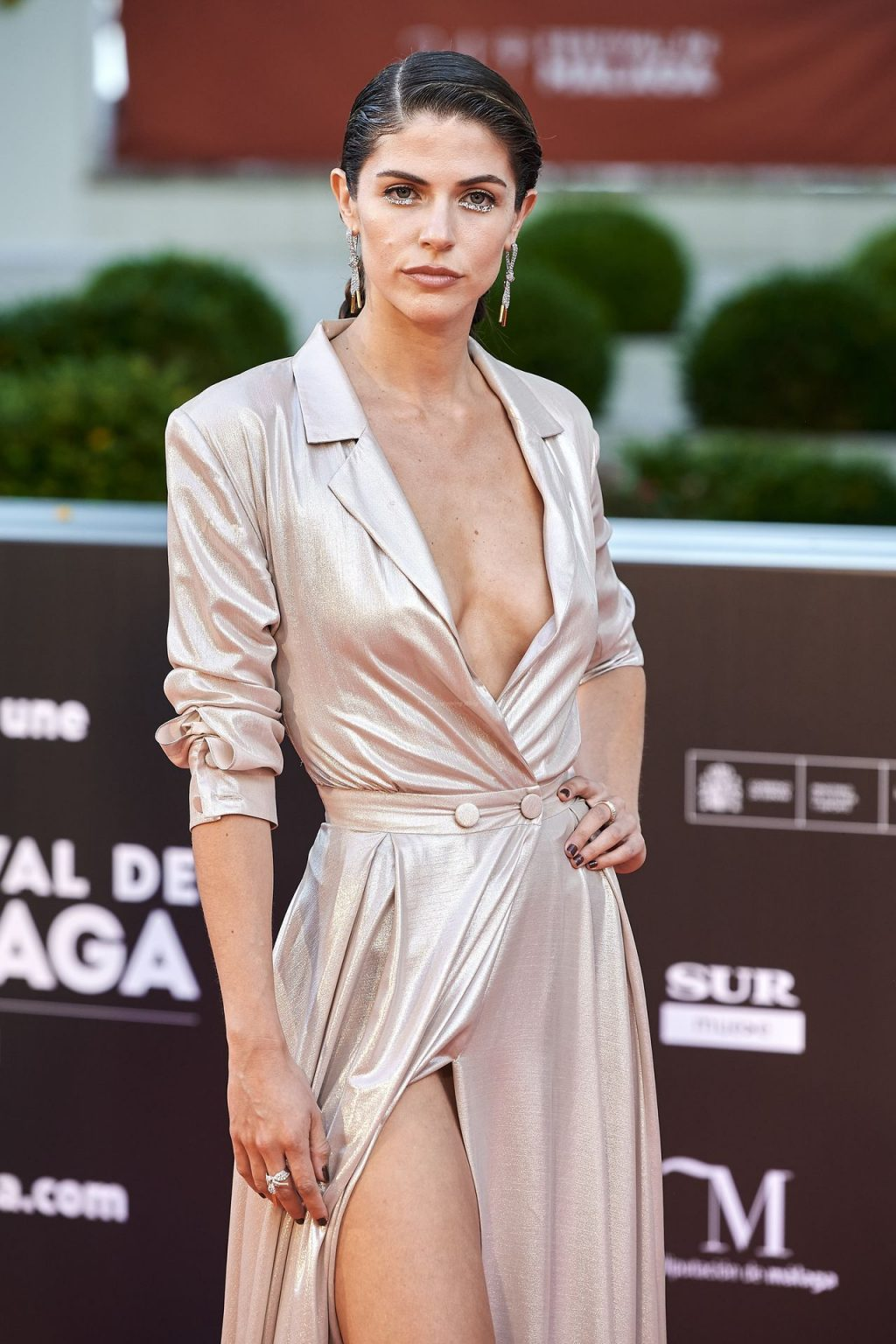 Stephanie Cayo Flashes Her Tits and Panties at the 24th Malaga Film Festival (14 Photos)