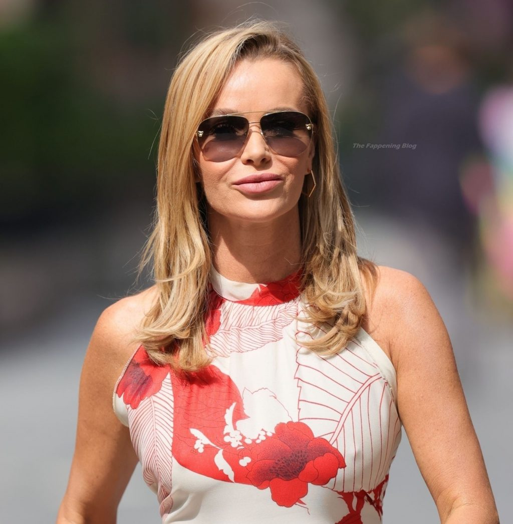 Amanda Holden Looks Flawless as She Turns Heads in a Jumpsuit in London (14 Photos)