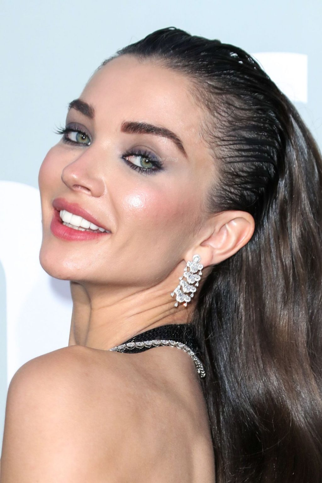 Amy Jackson Flaunts Her Nude Tits in a See-Through Dress at the 27th AmfAR Gala (24 Photos)