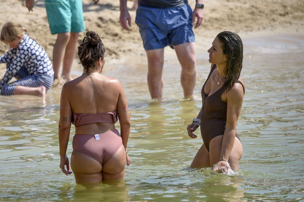Anabel Pantoja & Nagore Robles are Seen on the Beach in Ibiza (26 Photos)